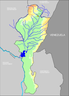 Cesar River river in Colombia