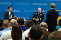 Chairman of the Joint Chiefs of Staff Gen. Martin E. Dempsey listens to a question at the Brookings Institute in Washington, D.C., on June 27, 2013 130627-D-KC128-062.jpg