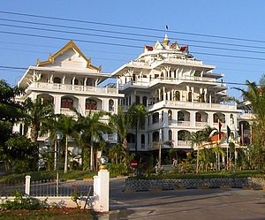 The Champasak Palace Hotel, Pakxe, formerly the palace of Boun Oum Na Champassak