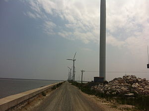 Changyi, Shandong - Wind turbines along the Bohai coast of Changyi City