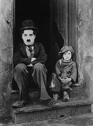 The Kid (1921 film) - Chaplin and Jackie Coogan in a publicity photo for The Kid