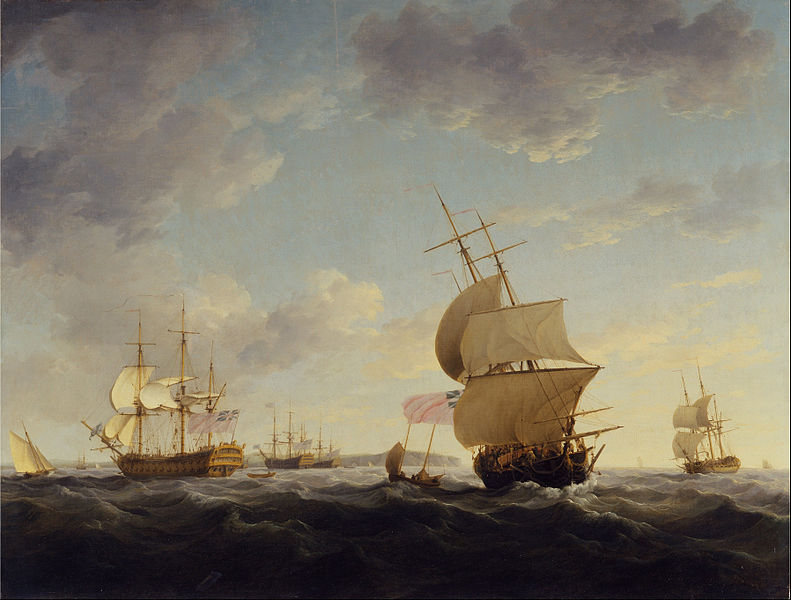 File:Charles Brooking - Shipping in the English Channel - Google Art Project.jpg