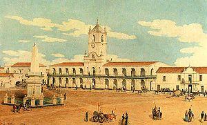 Charles Pellegrini - Image: Charles Henri Pellegrini Plaza de la Victoria (frente al norte 1829)
