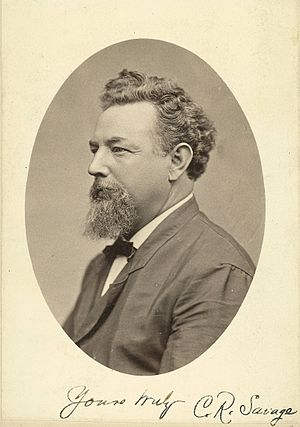 Charles Roscoe Savage - C. R. Savage, self-portrait, ca. 1880-1890.