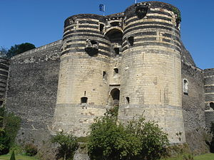 René of Anjou - The Castle of Angers, René's birthplace.