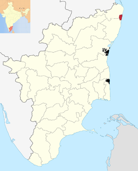 Localisation de District de Chennai