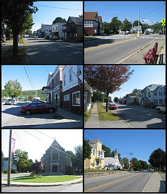 Chestertown, New York - Image: Chestertown NY Montage 1