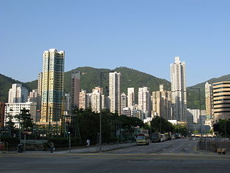 Cheung Sha Wan - A junction near Fortune Estate in east Cheung Sha Wan.