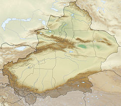 China Xinjiang relief location map.jpg