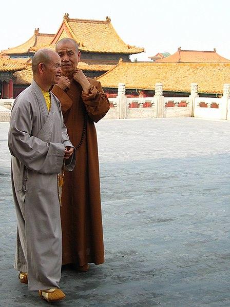File:Chinese Buddhist Monks Forbidden City Beijing.jpeg