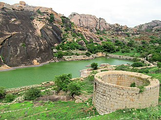 Chitradurga Fort - One of the tanks in the fort