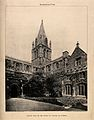Christ Church, Oxford; cloisters and cathedral. Photolithogr Wellcome V0014095.jpg