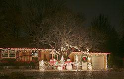 แสงไฟคริสต์มาสในเออร์แบนา รัฐอิลลินอยส์