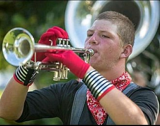 Music City Drum and Bugle Corps - Image: Christopher Farmer, Trumpet, marching the 2018 season