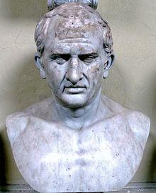 Porträt des Cicero auf moderner Büste, gefunden in der Villa der Quintilier (Vatikanische Museen) (Quelle: Wikimedia)