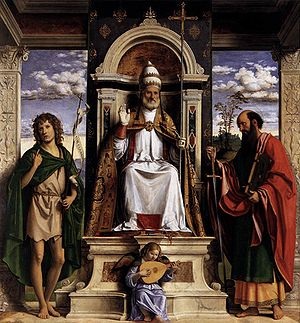 St Peter Enthroned with Saints