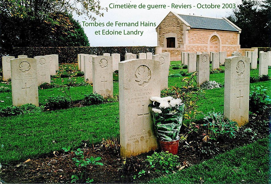 Cimetière de guerre - Reviers - Normandie
