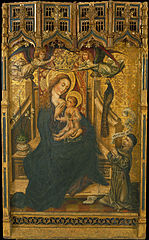Virgin Suckling the Child with Donor
