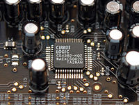 8-channel digital-to-analog converter Cirrus Logic CS4382 placed on Sound Blaster X-Fi Fatal1ty