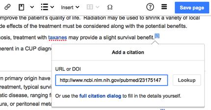 Wikipediavisualeditoruser guide wikipedia citoid in visualeditor screen shot 2015 04 02g ccuart Images