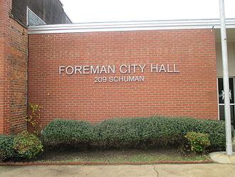 Foreman, Arkansas - Foreman City Hall