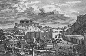 Pons Sublicius - Image: City of Rome during time of republic