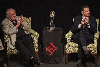 Jim Hanifan - Hanifan (left) along with Kurt Warner.