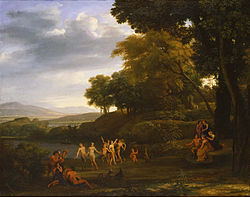 Claude Lorrain - Landscape with Dancing Satyrs and Nymphs - Google Art Project.jpg