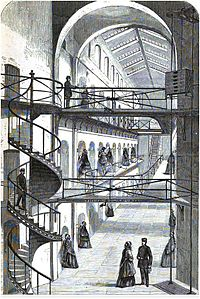 Clerkenwell prison, London, during visiting hours.JPG