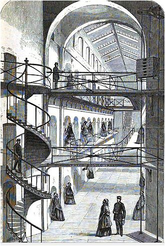 Clerkenwell explosion - Visiting time at the Clerkenwell House of Detention, 1862