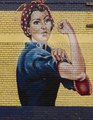 Close-up of Rosie the Riveter mural on an abandoned building in Sacramento, California LCCN2013633915.tif