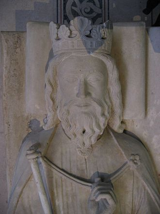 Name of France - Burial of Clovis I, King of the Franks, at the Basilica of St Denis near Paris