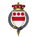 Coat of Arms of Sir Walter Devereux, 7th Baron Ferrers of Chartley, KG.png