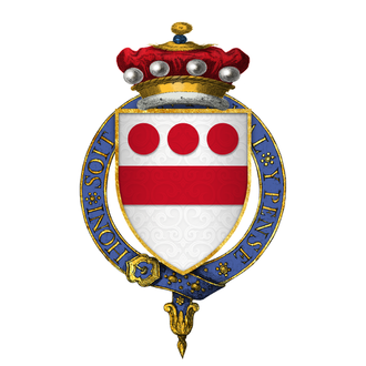 Walter Devereux, 7th Baron Ferrers of Chartley - Arms of Sir Walter Devereux, 7th Baron Ferrers of Chartley, KG