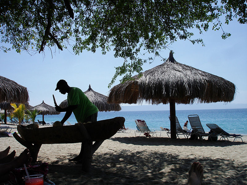 File:Coconuts on the beach at Club Indigo, Haiti.jpg