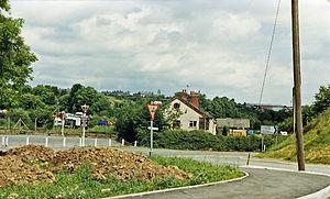 Coed Talon - Site of Coed Talon railway station, 1986