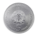 Coin 5 Mark DDR 1987 Berlin Brandenburger Tor (value).png