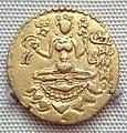 Coin of Vikramaditya Chandragupta II with the name of the king in Brahmi script 380 415 CE.jpg
