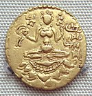 Coin of Vikramaditya Chandragupta II with the name of the king in Brahmi script 380 415 CE.jpg
