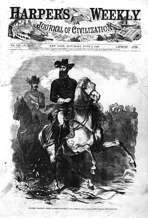 Grierson's Raid - Image: Col Grierson on Horseback Harpers Weekly 1863