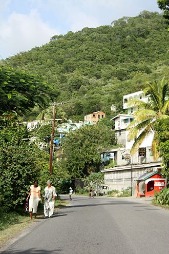 Transport in Dominica - Main road through Colihaut.