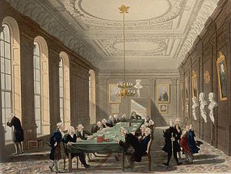 Royal College of Physicians - A College meeting in the early 19th century.