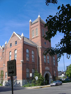 English: Former City Hall of Columbus, Indiana...
