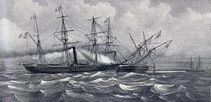 Battle of Havana (1870) - Image: Combat du Bouvet et du Météot 2
