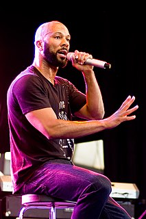 Common (rapper) American rapper, actor and author from Illinois