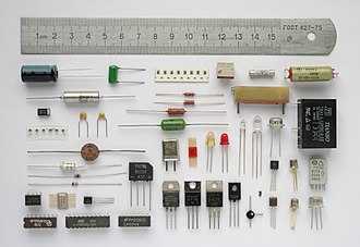 Electronic component - Various electronic components.