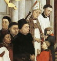 A bishop administering Confirmation. Rogier van der Weyden, The Seven Sacraments, 15th century.
