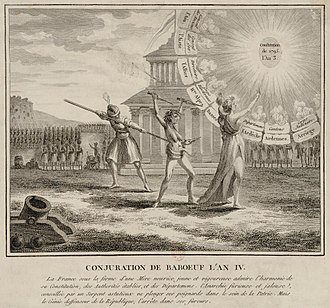 Conspiracy of the Equals - A 1796 engraving, denigrating the conspiracy (1796)