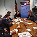 ConsMunich Secretary Napolitano im Gespräch mit Redakteuren der SZ. (7241276236).jpg
