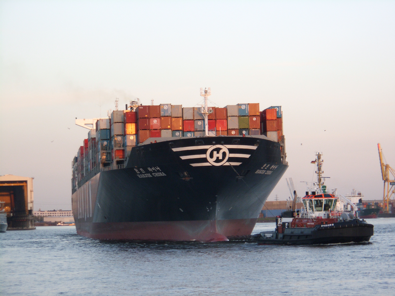File:Container ship Hanjin China in the port of Hamburg.png